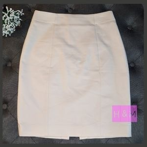 H&M Cream Pencil Skirt Classic 8